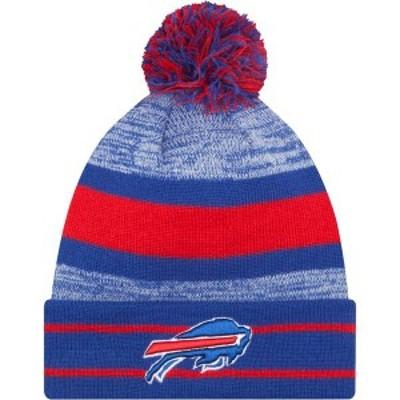 ニューエラ メンズ 帽子 アクセサリー New Era Men's Buffalo Bills Blue Cuff Pom Beanie
