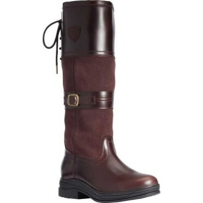 アリアト Ariat レディース ブーツ ロングブーツ シューズ・靴 Langdale H2O Knee High Boot Regular Calf Waxed Chocolate Waterproof Leather