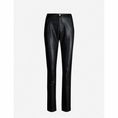 クローディ ピエルロ CLAUDIE PIERLOT レディース ジーンズ・デニム ボトムス・パンツ Paname high-rise tapered faux-leather jeans BLA