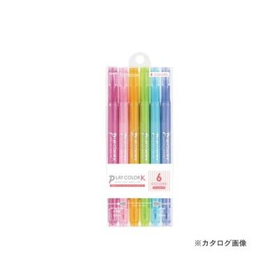 トンボ鉛筆 プレイカラーK 6色セットB GCF-611B