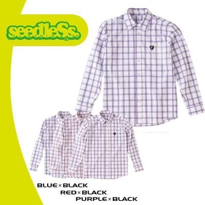 seedleSs シードレス STRIPE CHECK SHIRTS (メンズ ストライプ チェック シャツ) 3色