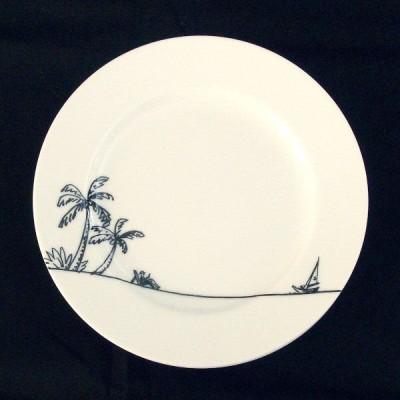 洋食器 絵皿 ヴォヤージュ 19cm プレート タヒチ