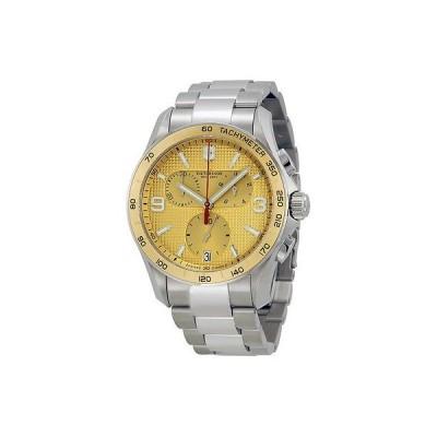 ヴィクトリノックス 腕時計 Victorinox クロノグラフ クラシック シャンパン ダイヤル スチール ブレスレット メンズ 腕時計 241658