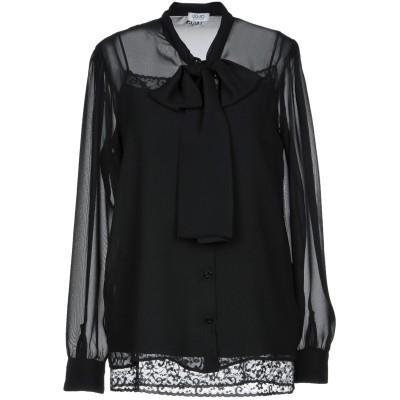 リュー ジョー LIU •JO シャツ ブラック 42 ポリエステル 100% シャツ
