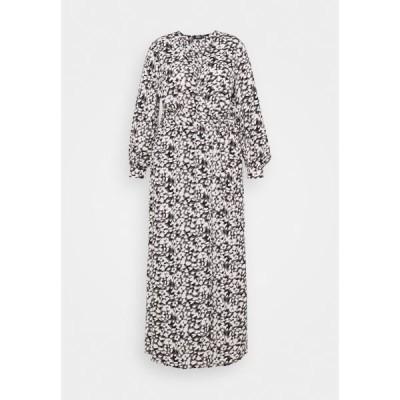 ミスガイデッド ワンピース レディース トップス PLUNGE DRESS LEOPARD - Maxi dress - black