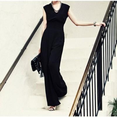 パーティードレス フォーマルワンピース お呼ばれドレス ノースリーブ 30代 40代 二次会 オールイワン スーツ フォ