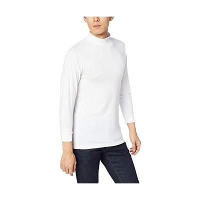[セシール] インナーシャツ スマートヒート 9分袖 ハイネック 吸湿発熱インナー KP-818 メンズ ホワイト 日本 S (日本サイズS