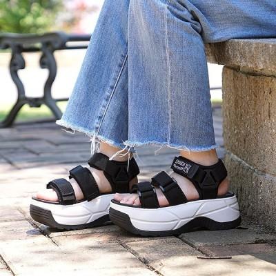 SHAKA シャカ サンダル レディース ネオ バンジー チャンキーソール NEO BUNGY CHUNKY 厚底 ストラップ アウトドア 靴 BLACK SK433114 SS19