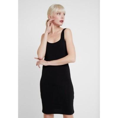 サムスサムス ワンピース レディース トップス SUE LONG SOLID - Shift dress - black