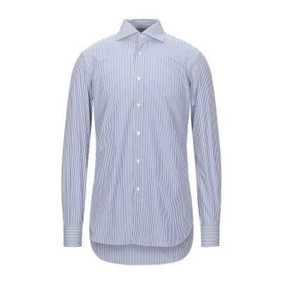 BURINI シャツ ダークブルー 39 コットン 100% シャツ