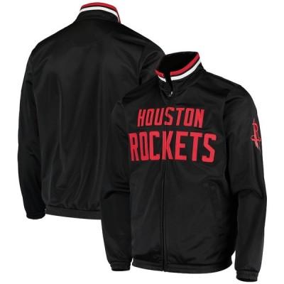 """メンズ ジャケット """"Houston Rockets"""" G-III Sports by Carl Banks Dual Threat Tricot Full-Zip Track Jacket - Black"""