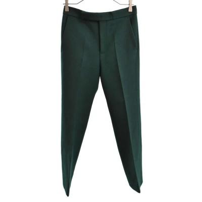 CELINE (セリーヌ) Tailored Mid Rise Trousers テイラード ミド トラウザーズ ウールパンツ グリーン レディース 21V90593A