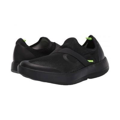 Oofos オーフォス メンズ 男性用 シューズ 靴 スニーカー 運動靴 Oomg Low Fibre - Black/Gray