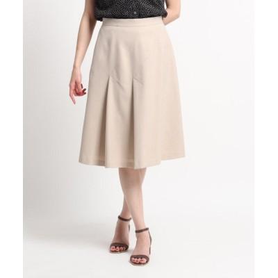 SunaUna(スーナウーナ) 【洗える】斜め切替えデザインフレアスカート