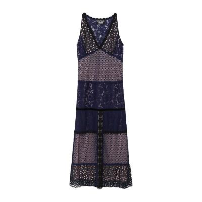 BOUTIQUE MOSCHINO ロングワンピース&ドレス ブルー 40 コットン 35% / ナイロン 34% / レーヨン 31% / ポリエ