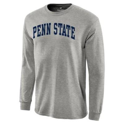 ユニセックス スポーツリーグ アメリカ大学スポーツ Penn State Nittany Lions Basic Arch Long Sleeve T-Shirt - Gray Tシャツ