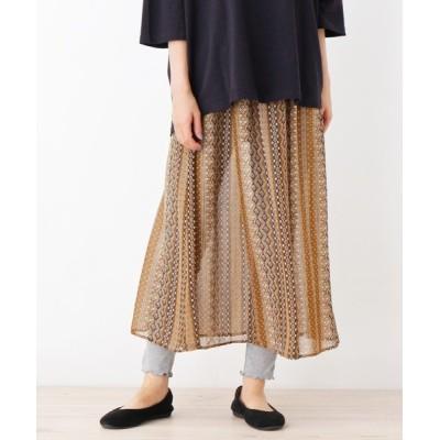 SHOO・LA・RUE / レギンス付柄スカート WOMEN スカート > スカート
