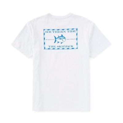 サウザーンタイド メンズ Tシャツ トップス Original Skipjack Graphic Short-Sleeve Tee White