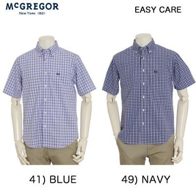 McGREGOR(マグレガー)メンズ  コットンイージーケア 半袖チェックシャツ 111169101