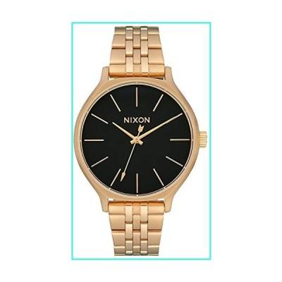 【新品】NIXON Clique A1249 - Gold/Black - 50m Water Resistant Women's Analog Classic Watch (38mm Watch Face, 17mm-15mm Stainless Steel Band)(並