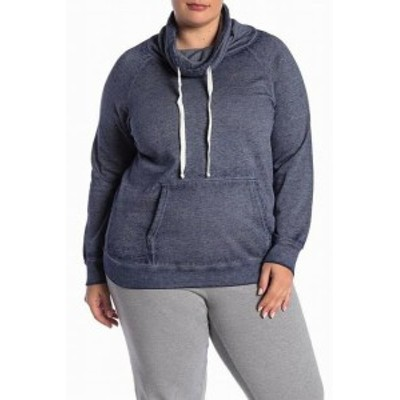 Gold ゴールド ファッション トップス Planet Gold NEW Blue Womens Size 1X Plus Drawstring Cowl Neck Sweater