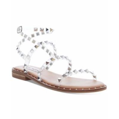 スティーブ マデン レディース サンダル シューズ Women's Travel Rock Stud Flat Sandals Clear