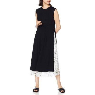 [ミラオーウェン] ロングニットレイヤードプリーツスカート 09WNO202253 レディース BLK 日本 0 (日本サイズ7 号相当)