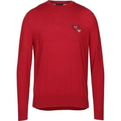 アルマーニ EMPORIO ARMANI メンズ ニット・セーター トップス sweater Red