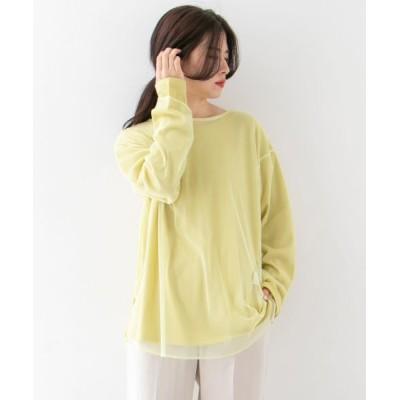 KBF/ケービーエフ チュールSETロングスリーブTシャツ L.YELLOW one