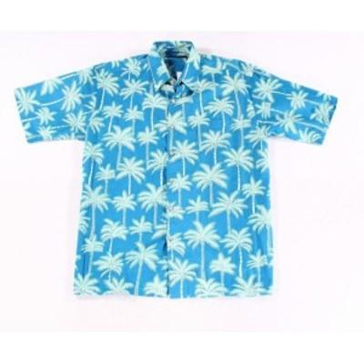Pocket  ファッション アウター Tori Richard Mens Blue Size XS Palm Print Pocket Button Down Shirt