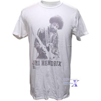 ジミー・ヘンドリックス米国公式メンズTシャツ(ギター・ホワイト)