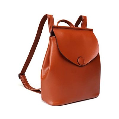新品 On Clearance Sale Heshe Womens Leather Small Backpack Fashion Casual Daypack Purse for Ladies and Girls (Brown)