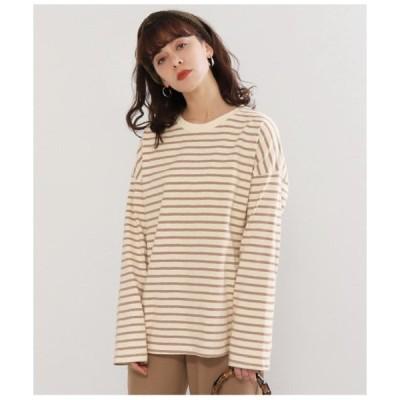 【ファクターイコール】ボーダーロングTシャツ
