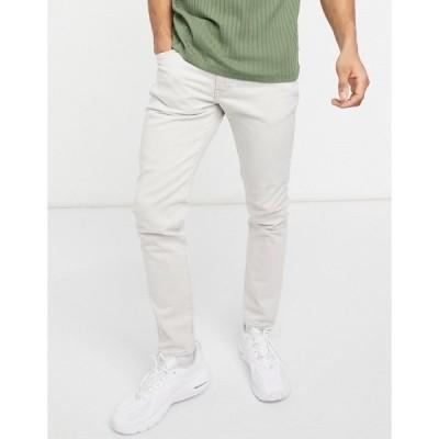 リーバイス メンズ デニムパンツ ボトムス Levi's 512 slim taper fit jeans in pumice stone gray super light overdye Grey