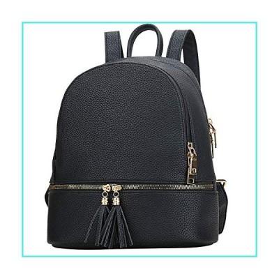 【新品】KKXIU ガールズバックパック レディース かわいい小さなレザー財布 タッセル付き (ブラック)(