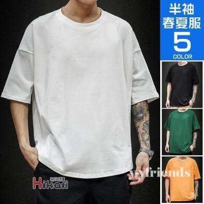 tシャツ メンズ 無地 半袖Tシャツ 五分袖 スポーツ クルーネック おしゃれ ブラック サマー 夏用 40代 50代 大きいサイズ