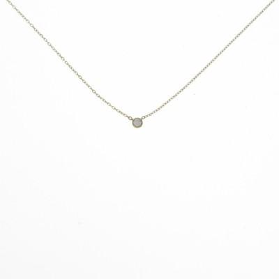 K10YG ソリティア ダイヤモンドネックレス