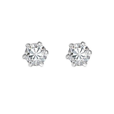 Sparkling Mini 3 mm White Cubic Zirconia .925 Sterling Silver Stud Earrings