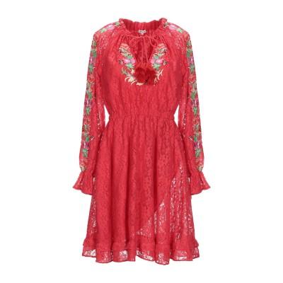 マヌーシュ MANOUSH ミニワンピース&ドレス レッド 34 コットン 70% / ナイロン 30% ミニワンピース&ドレス