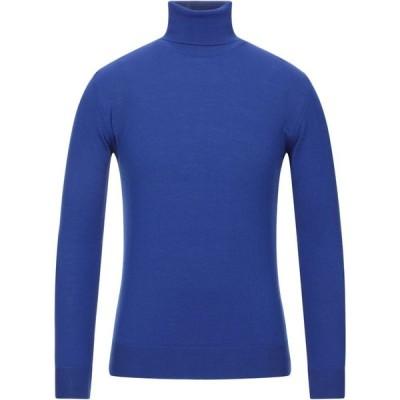 TSD12 メンズ ニット・セーター トップス turtleneck Bright blue