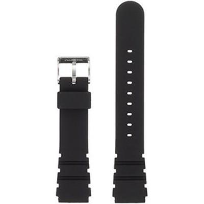 [クレファー]crepha 時計ベルト 19mm ウレタン バネ棒 工具付き ブラック ku-26