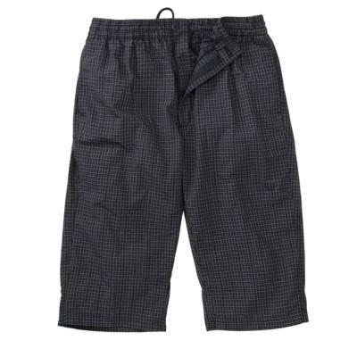 サッカー素材チェック柄7分丈イージーパンツ ショート・ハーフパンツ, Pants