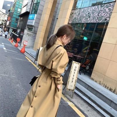 コート レディース ロングコート TKLKSDY31400 30代40代 オシャレ 秋 アウター 女性 大人 韓国風 ジャケット OL 通勤 ゆったり ウ