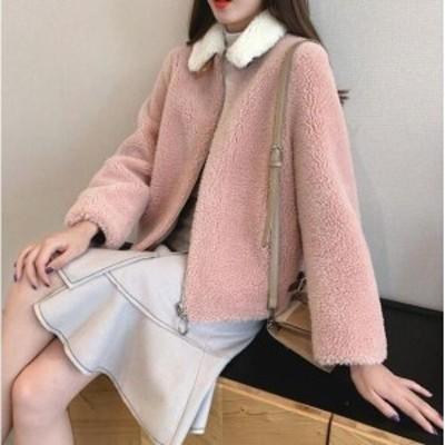 3色入♪カジュアル 女性 ショートコート アウター 暖かい 冬物 防寒 毛皮コート 上質 コート 上着 ジャケット ファッション ファー レデ