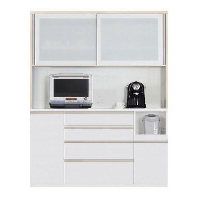 食器棚 引き戸 キッチン収納 キッチンボード レンジ台 日本製 ダイニングボード Nサイゼスト 160 W (配送員設置)