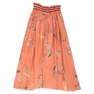 フォルテ フォルテ FORTE_FORTE 7分丈スカート レンガ 1 コットン 100% 7分丈スカート