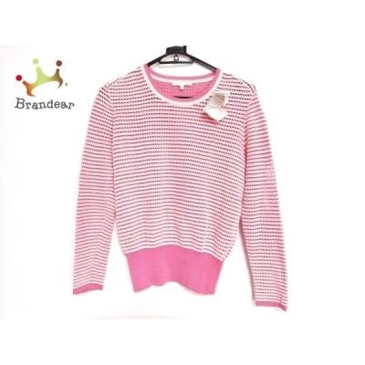 ポールカ PAULEKA 長袖セーター サイズS レディース 新品同様 白×ピンク  値下げ 20210412