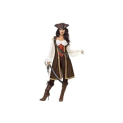 Smiffys High Seas Pirate Wench Costume -Brown/White/Red - L