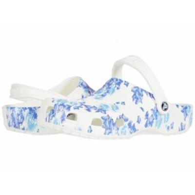 crocs クロックス レディース 女性用 シューズ 靴 クロッグ ミュール Classic Clog Seasonal Graphic White/Blue【送料無料】