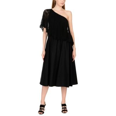 PLACE NATIONALE 7分丈ワンピース・ドレス ブラック 1 コットン 100% 7分丈ワンピース・ドレス